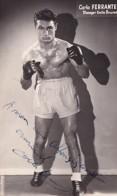 CARLO FERRANTE       AUTOGRAPHE    PHOTO LANBIVAL  PARIS - Boxing