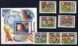 TANZANIA 1994 # 1174A-1174H SOUVENIR SHEET & SET MNH SOCCER WORLD CUP 94 4397RD-2 2018A - World Cup