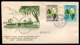 COLOMBIA- KOLUMBIEN - 1969.FDC/SPD. INTER-AMERICAN INSTITUTE OF AGRICULTURAL SCIENCES - Colombia