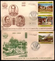 COLOMBIA- KOLUMBIEN - 1969.FDC/SPD. AVIATION - 150 YEARS OF LIBERTY  CAMPAIGN. SET X 2 COVERS - Colombia