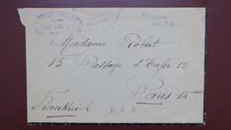 Lettre En Franchise Cachet Commission Gouvernement Plébiscite De Haute Silesie Service Courrier 20 Octobre 1920 - Postmark Collection (Covers)
