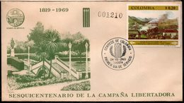 COLOMBIA- KOLUMBIEN - 1969.FDC/SPD. AVIATION - 150 YEARS OF LIBERTY  CAMPAIGN. SINGLE COVER - Colombia