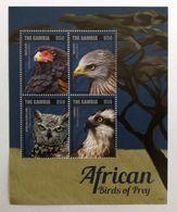 Gambia 2014** Klb.6995-98 Birds Of Prey MNH [17II;13] - W.W.F.