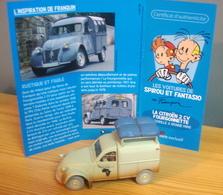 Voiture CITROEN 2CV FOURGONNETTE De 1954 Des Aventures De Spirou Et Fantasio, 1/43, Le Gorille A Bonne Mine - Figurines