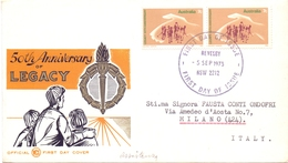 AUSTRALIA 50° ANNIVERSARY OF LEGACY EDC  1973 COVER  (DICE1800040) - 1966-79 Elizabeth II