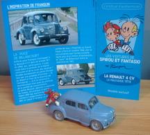 Voiture RENAULT 4 CV De 1950 Des Aventures De Spirou Et Fantasio, 1/43, La Mauvaise Tête - Figurines