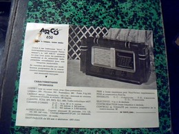 Publicité Poste  A Lampes   TSF Radio  ARCO  650 /6  LAMPES Annee 50 - Publicités