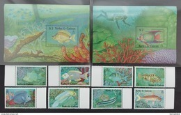 Turks Caicos 1990** Mi.890-97, Bl.81, 82. Fishes MNH [21;106] - Poissons