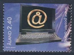 Aland 1998 Mi 137 SG 133 ** Laptop Computer / Surfen Im Internet - Youth Activities / Jugendaktivitäten - Informatique