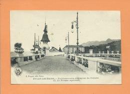 CPA Abîmée - Evian Les Bains -  Etablissements Et Sources Du Châtelet -12 - La Terrasse Supérieure - Evian-les-Bains