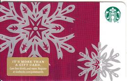 USA - Starbucks Card(dark Red), CN : 6157, Unused - Cartes Cadeaux