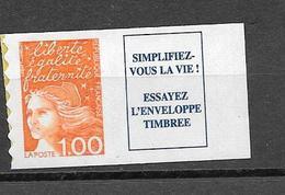 France:n°3101a (Type I Avec Vignette) Cote 4,00 - 1997-04 Marianne Du 14 Juillet