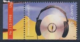Aland 1998 Mi 138 SG 134 ** CD Disk And Headphones / Musikhören - Youth Activities / Jugendaktivitäten - Musique