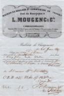 BULLETIN DE CHARGEMENT 1847 POUR VINAY ISERE - MAISON DE ROULAGE  MOULENC A BORDEAUX  GIRONDE - Transport