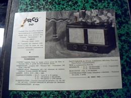 Publicité Poste A Lampe   TSF Radio  ARCO  549 Annee 50 - Publicités