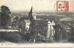 Belgique Timbre Belge Sur Carte De France Le Havre - L'Abbaye De Graville - Autres