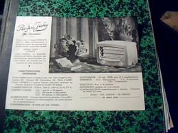 Publicité Poste A Lampe   TSF Radio  ROYAL  JIKY Alternatif  5 Lampes RIMLOCK Annee 50 - Publicités