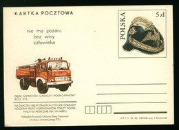 Pologne Entier Postale Sapeurs-Pompiers Camion Poland Firefighters Truck Postal Stationery - Sapeurs-Pompiers