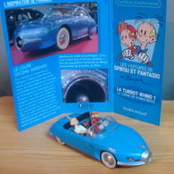 Voiture SOCEMA-GREGOIRE, Buick Coupé Concept Car Le Sabre 1951/1952, Des Aventures De Spirou Et Fantasio, La Corne Du Rh - Figurines