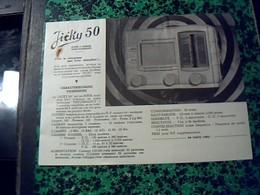 Publicité Poste A Lampe   TSF Radio JIKY 50-- 5 Lampes  Tout Courants  Annee 50 - Publicités