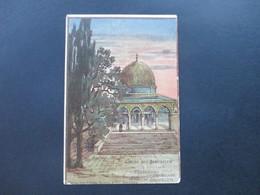 AK 1903 Russland Levante Künstlerkarte Marke Mit Rotem Aufdruck! Violette Stempel. Ak Stempel Schweiz Kirchberg - Levante