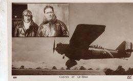 Joseph Le Brix  -  Dieudonne Costes  -  Aviateurs Francaises  -  CPA - Aviatori