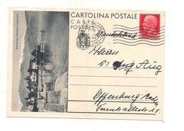 2773) Intero Postale Turistica 75c BAVENO X Estero Piega Verticale - 1900-44 Vittorio Emanuele III