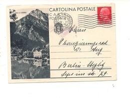 2774) Intero Postale Turistica 75c LAGO DI LEDRO X Estero DA CORTINA D'AMPEZZO - 1900-44 Vittorio Emanuele III