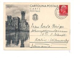2775) Intero Postale Turistica 75c SIRMIONE 1935  X Estero DA ABBAZIA FIUME - Interi Postali