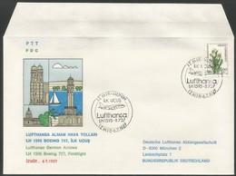 1987 Turkey Izmir - Munich First Flight Cover - Airplanes