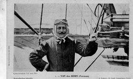 Charles-Louis Van Den Born (Farman)  -  Aviateur Francais  -  CPA - Aviatori