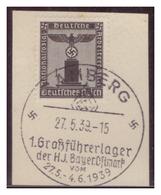 Dt-Reich (007150) Propagandasonderstempel Auf Briefstück, Bamberg, 1.Großführerlager Der HJ Bayer.Ostmark Am 27.5.1939 - Deutschland