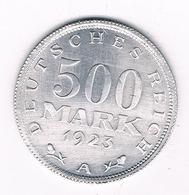 500  MARK 1923 A DUITSLAND /8515/ - [ 3] 1918-1933 : Republique De Weimar