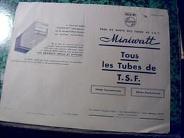 Publicité   Accessoire Tsf Postes A Lampe Tube TSF  Miniwatt  PHILIPS    Annee1948 - Publicités