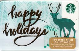 USA - Happy Holidays, Starbucks Card, CN : 6157, Unused - Cartes Cadeaux