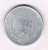 1000 LEI 2001  ROEMENIE /8518/ - Roumanie