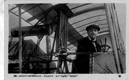 Locomotion Aerienne  -  Henri Rougier Sur Biplane Voisin  -  Aviateur Francais  -  CPA - Aviatori