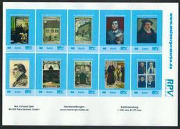 Deutschland RPV Klb. '500 J. Reformation, Martin Luther' / Germany Sh. '500th Ann. Of Reformation' **/MNH 2017 - Persönlichkeiten