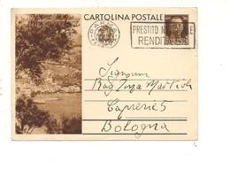 2790) Intero Postale Turistica 30c ARENZANO GENOVA 1936 1^ TIRATURA - Interi Postali