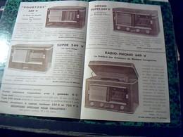 Publicité   Tsf Postes A Lampe Platine Radio FEDCHA Radio Tv  Abordeaux Annee 50 Delpech  Revendeur A Gramat Lot - Publicités