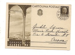 2793) Intero Postale Turistica 30c GENOVA PORTO 1937 2^ TIRATURA - Interi Postali
