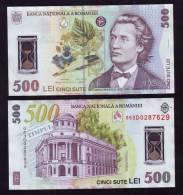 500 Lei  UNC Polymer Plastic Note Romania - Roumanie