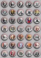 35 X Karl Marx 200 Years BADGE BUTTON PIN SET 2 (1inch/25mm Diameter) - Personnes Célèbres
