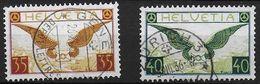 Schweiz Suisse 1933: Flugbrief Zu Flug 14z-15z Mi 233z-234z Yv PA8a-9a Geriffelt Papier Grillé Mit Voll-o (Zu CHF 180.00 - Poste Aérienne