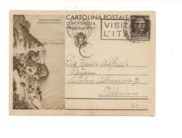 2797) Intero Postale Turistica 30c STRADA PONALE 1937 2^ TIRATURA DOMANDA - Interi Postali