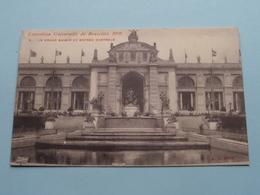 Exposition De Bruxelles - Le Grand Bassin Et Entree Centrale ( 5 - A.L. Brux. ) 1910 ( Voir / Zie Photo ) ! - Expositions Universelles