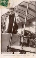 Locomotion Aerienne  -  Auguste Paulhan Sur Biplan Voisin  -  Aviateur Francais  -  CPA - Aviatori