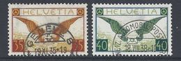 Schweiz Suisse 1933: Flugbrief Zu Flug 14z-15z Mi 233z-234z Yv PA8a-9a Geriffelt Papier Grillé Halbmond-o (Zu CHF 180.00 - Poste Aérienne