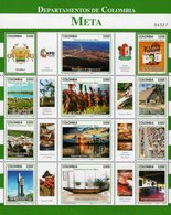 Colombia - 2018 - Departments Of Colombia - Meta - Mint Souvenir Sheet - Colombia