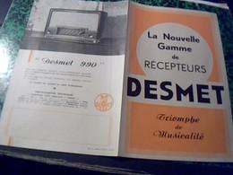 """Publicité   Tsf Postes A Piles  Gamme De Recepteurs  """" DESMET TSF"""" Type 991,948,990 - Publicités"""